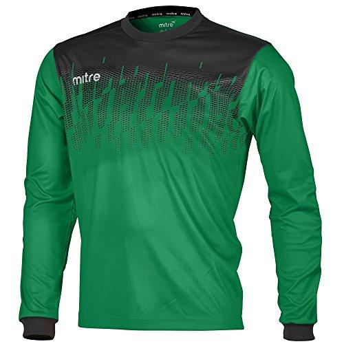 Mitre Command Goalkeeper, Maglia Giornata di Calcio Uomo, Smeraldo/Nero, S
