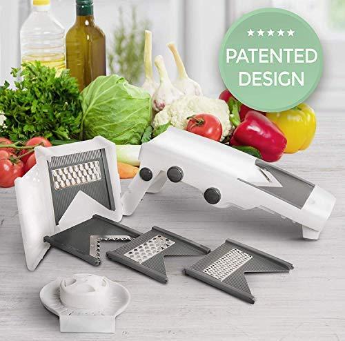 Mueller Austria Multi Blade Adjustable Mandoline Cheese/Vegetable Slicer, Cutter, Shredder with Precise Maximum Adjustability