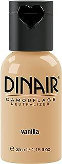 Dinair Airbrush Makeup Foundation   Vanilla 1.15 oz   Camouflage Neutralizer - Covers Scars, Acne, Tattoos, Vitiligo, Under Eye circles, Sun Spots