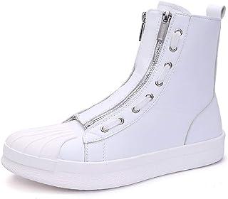 DADIJIER Botas altas de skate para hombre Zapatillas de deporte cómodas Zapatillas con cremallera antideslizantes planas a...