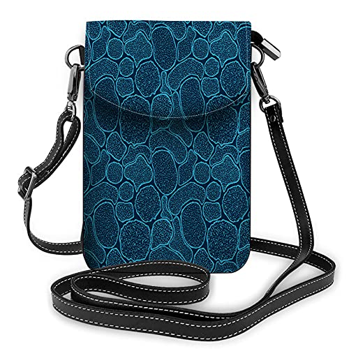 WONDERTIFY Virus Cells Under The Electron Microscope Small Cell Phone Purse Microbes Bacteria In The Scanning View Crossbody Bag For Women Wallet Purses And Handbags 7.6X4.9 Inch