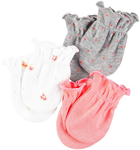 Carter's Girls' Mitts 126g510, Pink, 0-3 Months Baby