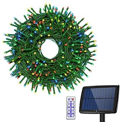 Binval Upgraded Solar String Light 72ft 200LED Fairy Christmas String Lights?White & Multi-Color)