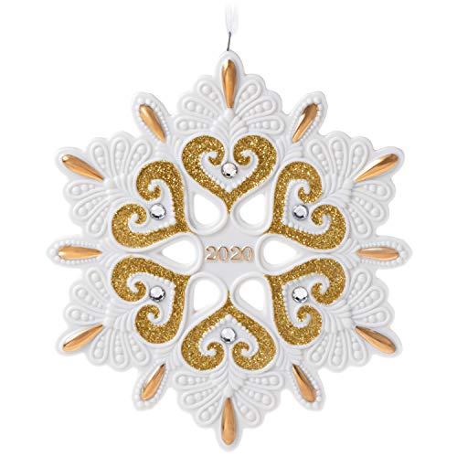 Hallmark Keepsake Christmas Ornament 2020 Year-Dated, Snowflake, Porcelain