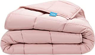 Luna Adult Weighted Blanket - Silky Cooling Bamboo & Premium Glass Beads - 15 Lbs - 48x72 - Full Size Bed - Designed in US...