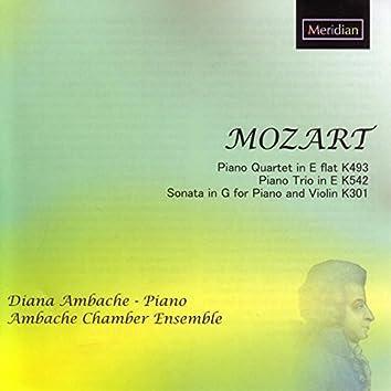 Mozart: Piano Quartet in E-Flat, K.493 / Piano Trio in E, K.542 / Sonata in G for Piano and Violin, K.301