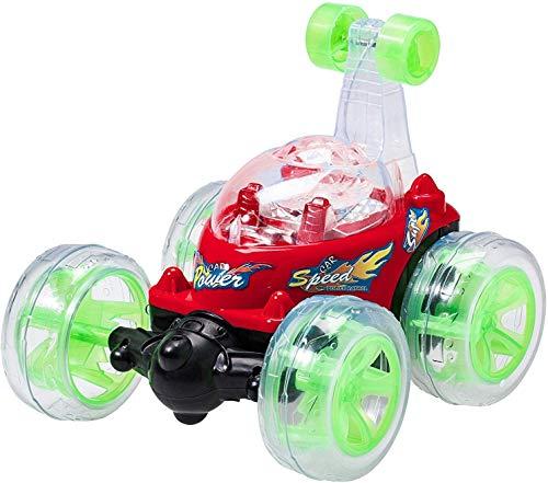 Top Race op afstand bestuurde auto Cyclone Twister RC kinderspeelgoed Stuntauto met LED-lampen en muziekgeluid, 27 MHz, blauw