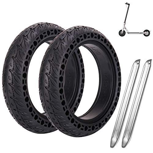 MINICoo Reifen Felge, Frei Ersatz Solide Felge Ersatzreifen mit 2 Felgenheber für Xiaomi M365 Elektro-Scooter Gummi Solid Tyre Reifen Ersatzräder