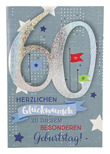 Depesche 5698.078 - Glückwunschkarte mit Musik, 60. Geburtstag