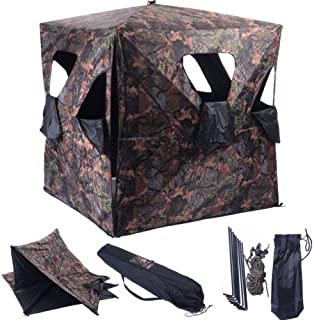 Lpha' US Cube Tent Camouflage Ground Hunting Blind Portable Deer Pop Up Hunter camping Mesh Window