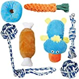 Toozey Puppy Toys for Small Dogs, 7 Pack Puppy Chew Toys for Teething with Laundry Bag, Cute Platypus Small Dog Toys, Durable Plush Squeaky Puppy Toys, 100% Natural Cotton Ropes Puppy Teething Toys