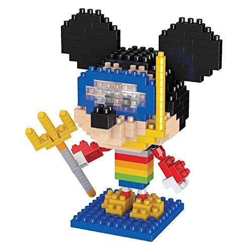 Anoauit Diamant Mini Bausteine Sets 7 Arten Schöne Disney Figur Modell 3D Puzzle Geburtstagsgeschenke für Kinder Erwachsene-D.