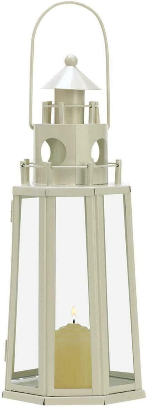 DKA Future Max 66% OFF Ivory White Metal Octagon Lighthouse 1 gift Nautical Beach