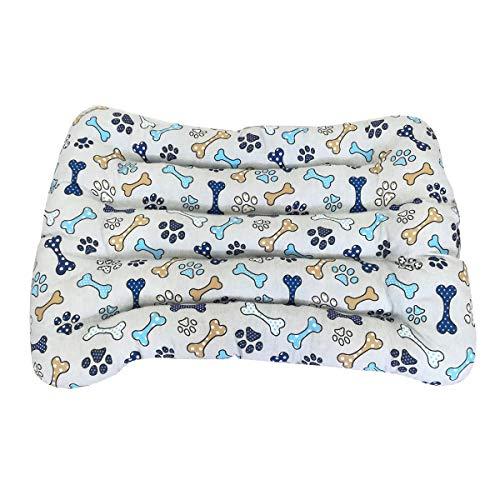 Cisne 2013, S.L. Cama para Perro y Gato Dibujo Huesos Azules (115 * 90cm)
