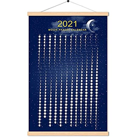 Lunar Calendar 2022.Amazon Com 2021 March To 2022 April Moon Phase Calendar Print Poster Vertical Canvas Lunar Cycle Chart Scroll Frame Ready Space Wall Decor 16 X 24 Inch Posters Prints