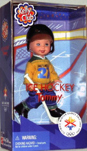 Barbie- Kelly Club Doll Ice Hockey Tommy 1997 Winter Olymic Games Salt Lake 2002 -  kelly doll