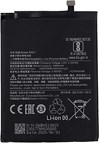 Bateria Compatible con BN51 para Xiaomi Redmi 8 Redmi 8A 4900 Mah