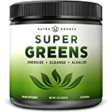 Super Greens Powder Premium Superfood - 20+ Organic Green Veggie Whole Foods -...