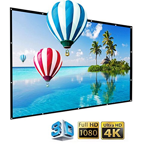 IGREAT 200 inch Portable Outdoor Projector Screen, 16:9 Folding HD Big Size Movie Screen for Home Theater Office Presentation