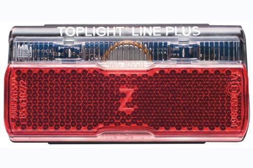 Busch & Müller Rücklicht Toplight Line PLUS Fahrradlicht, schwarz/rot, Bolzenabstand : 50 mm