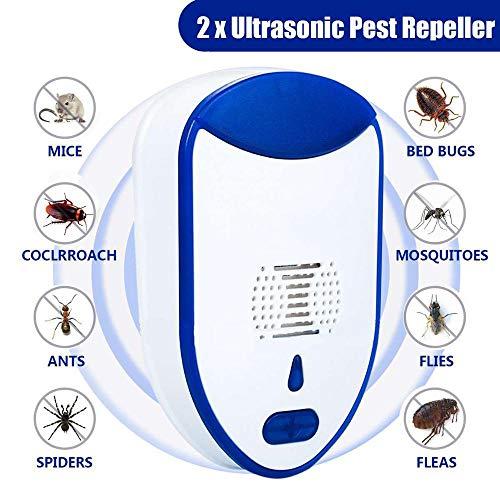 GDS 2pcs del Asesino del Mosquito de la lámpara, la conversión de frecuencia ultrasónica Multifuncional Repelente de Mosquitos, Usado en el Dormitorio/habitación del bebé/Camping/Oficina/Cocina