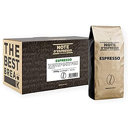 Note d'Espresso Italiano - Café expreso en grano, 1kg (caja con 2 paquetes)