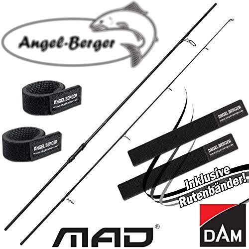 Angel-Berger Dam Mad XT1 Karpfenrute Angelrute Grundrute Rutenband (Standard 2 Teilig, 3.60M 3.00lbs 50er Startring)