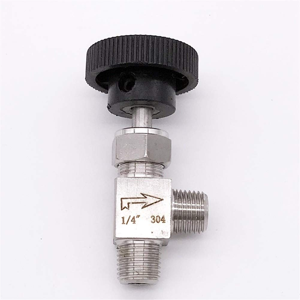 BAIJIAXIUSHANG-TIES Valves Specification : 3//8 Fittings 1//8 1//4 3//8 1//2 Inch BSP Equal Female Thread SS 304 Stainless Steel Flow Control Shut Off Needle Valve