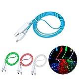 UKCOCO Micro Câble USB Câble de données lumineux Luminous Cordons de charge pour...