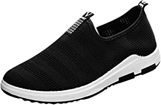 Remanlly Men's Shoes Breathable Mesh Flat Shoes Non-Slip Comfortable Sneakers Casual Shoes