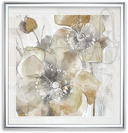Renditions Gallery Taupe Spring Poppy II Flower Art Framed Abstract Artwork Modern Home Wall product image