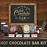 Hot Chocolate Bar Kit -Sign Labels Cup Tags - Decorations for Christmas Party New Years Eve Kids Birthday