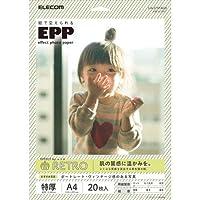 (9個まとめ売り) エレコム 写真用紙 エフェクトフォトペーパー レトロ A4 20枚 EJK-EFRTA420