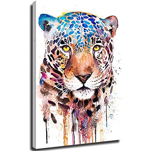 SSKJTC Pintura de pintura animal de guepardo, lienzo de pared, artista, decoración del hogar, impresiones listas para colgar para decoración del hogar, obras de arte 20 x 30 cm