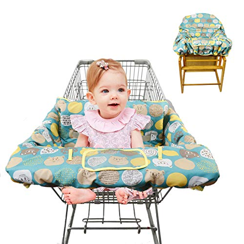 Shopping Cart Covers for Baby Padded Toddler High Chair Cover with Cell Phone Holder -Grocery Cart...