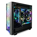 Segotep Phoenix ATX Black Mid Tower PC Gaming Computer Case USB 3.0 Type-C Ports / Graphics Card Vertical Mounting with Tempered Glass & RGB Front Panel (PC Case ONLY)