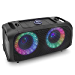 Wireless Portable Bluetooth Boombox Speaker - 500W Rechargeable Boom Box Speaker Portable Barrel Loud Stereo System - Flashing LED, FM Radio/Aux/MP3/USB Flash Drive/Micro SD, & 1/4 in - Pyle PPHP652B (Renewed)