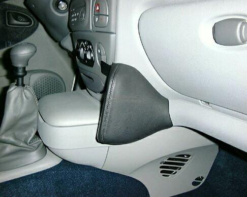 KUDA 082195 Halterung Kunstleder schwarz für Renault Megane Scenic JA (m. Kühlbox) ab 05/2001 bis 06/2003