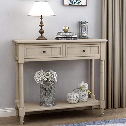 oak console tables for entryway - 7