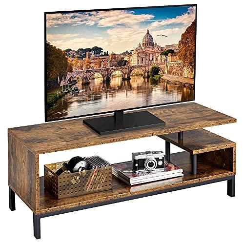Yaheetech Mobile Porta TV a 3 Ripiani 106 x 40 x 40 cm Stand Supporto per TV Armadietto Legno Industriale Vintage Tavolino Porta Televisori Mobiletto Salotto Soggiorno