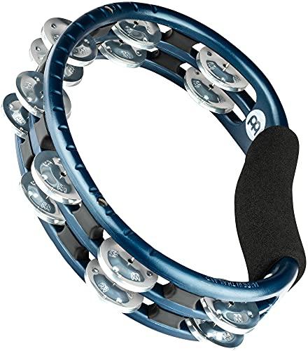 Meinl Percussion TMT1A-B Tambourine (ABS-Plastik) mit Aluminiumschellen (2-reihig) - Handmodell, blau