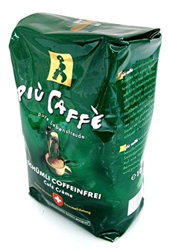 PIU CAFFÈ coffeinfrei Kaffee 6 x 1 kg = 6 kg