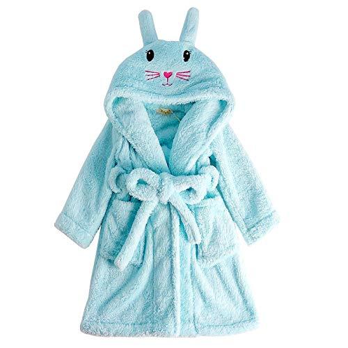 LEYUANA Albornoz para bebé con Capucha y Conejo Rosa para niños 8 Azul