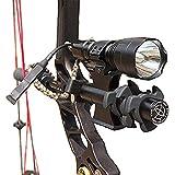 AUKMONT Tactical C8Q5 600 Lumen Archery Compound CNC 20mm Bow Stabilizer Sight Flashlight with Damper Mount