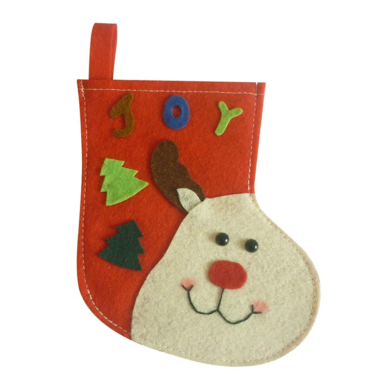 Narutosak Christmas Stockings, Lovely Santa Claus Snowman Gift Sock Candy Bag Style Tree Decoration - Red