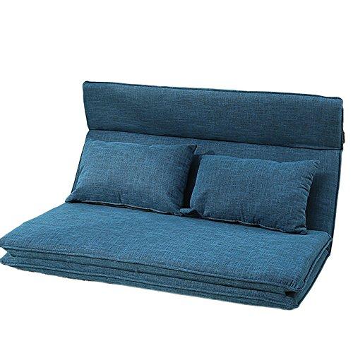 L-R-S-F Petit Lit Paresseux De Lit De Sofa Se Pliant De Chambre À Coucher par Lit Paresseux pour S'allonger pour Dormir (Couleur : Dark Blue.)