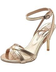 [タオフェン] レディース ファッション アンクルストラップ ピンヒール サンダル パーティー 結婚式 靴