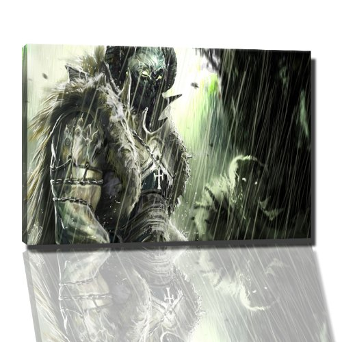 Aliens afbeelding op canvas - 60x40 cm kant-en-klare kunstdruk afbeeldingen als muurschildering - Goedkoper dan olieverfschilderij of schilderij - GEEN poster of affiche