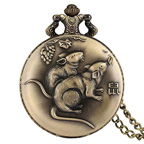 Montre De Poche À Quartz - Style Chinois Bronze Série...