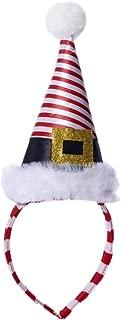 Mini Striped Santa Hat Headband